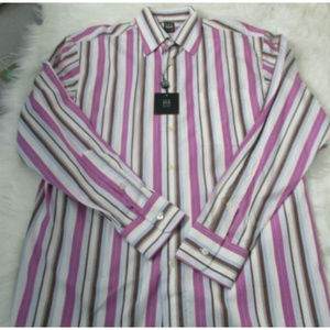 Ike Behar Mens Casual Button Down Shirt Size M